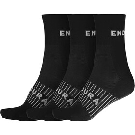 Endura Coolmax Race Chaussettes 3 Paires Homme, black